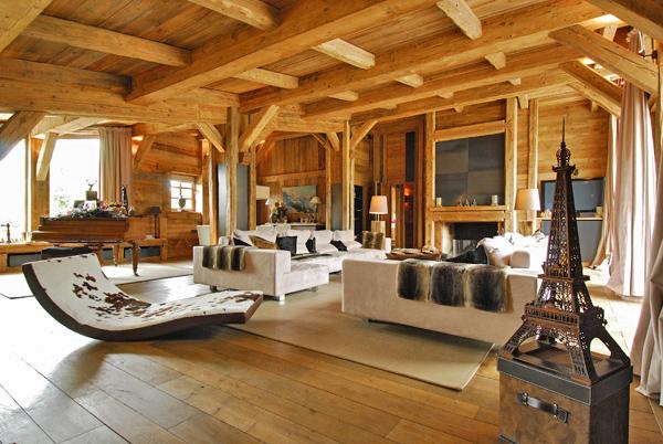 The finest luxury villa luxury chalet apartment rental - Chalet en bois interieur ...